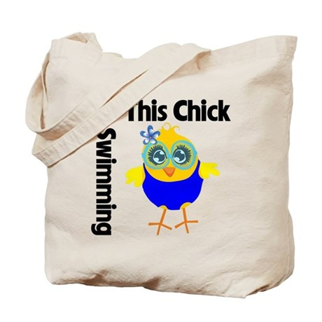This Chick Loves Swimming v2 Tote Bag