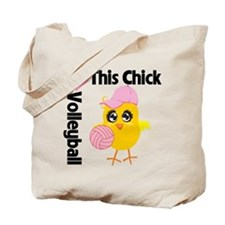 This Chick Loves Volleyball Tote Bag