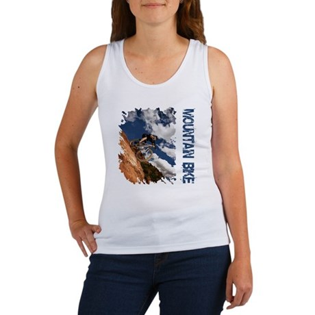 Mountain Bike Blue Sky Women's Tank Top