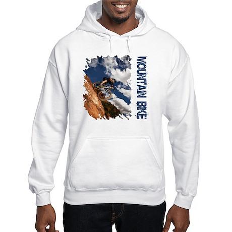Mountain Bike Blue Sky Hooded Sweatshirt
