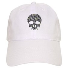 Lietuva Distressed Skull Pattern Baseball Cap