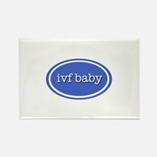 IVF baby (purple) Rectangle Magnet