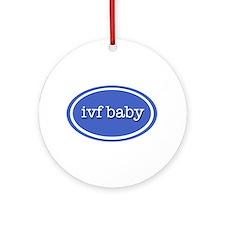 IVF baby (purple) Ornament (Round)