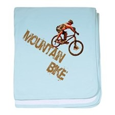 Mountain Bike Downhill baby blanket