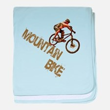 Mountain Bike Downhill baby blanket