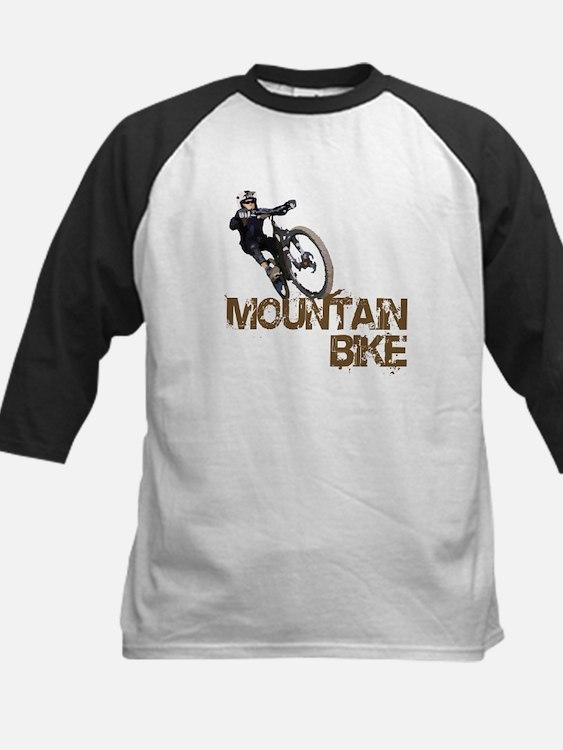 Mountain Bike Kids Baseball Jersey