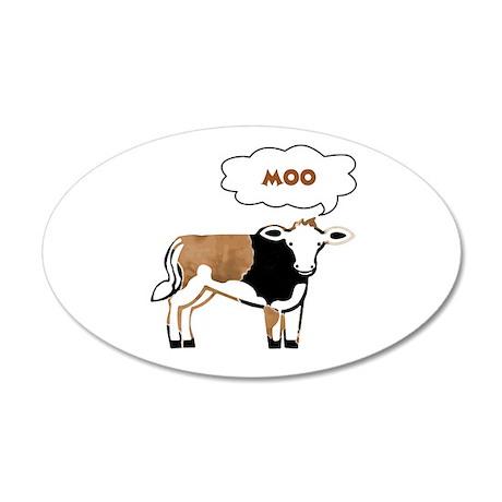 Moo Cow 38.5 x 24.5 Oval Wall Peel