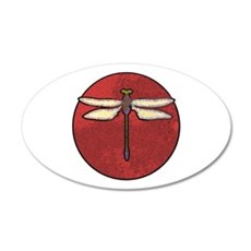 Red Moon Dragonfly 22x14 Oval Wall Peel