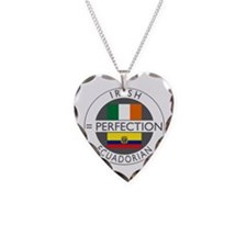Irish Ecuadorian heritage fla Necklace Heart Charm