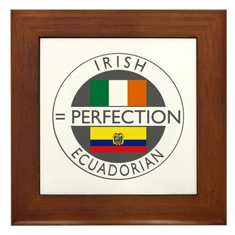Irish Ecuadorian heritage fla Framed Tile