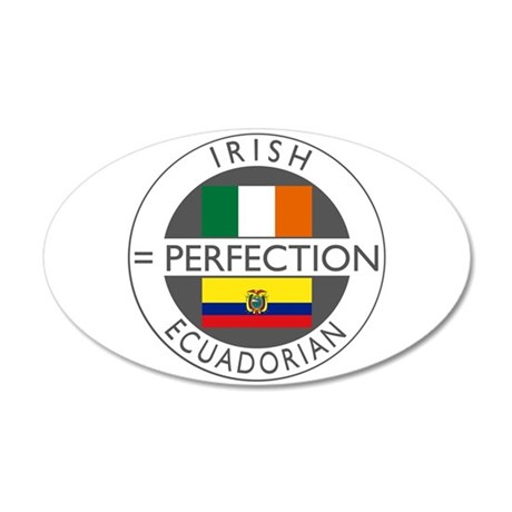 Irish Ecuadorian heritage fla 38.5 x 24.5 Oval Wal
