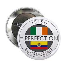"Irish Ecuadorian heritage fla 2.25"" Button"