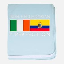 Irish Ecuadorian heritage fla baby blanket