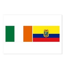 Irish Ecuadorian heritage fla Postcards (Package o