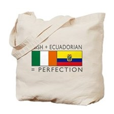 Irish Ecuadorian heritage fla Tote Bag