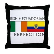 Irish Ecuadorian heritage fla Throw Pillow