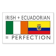 Irish Ecuadorian heritage fla Decal
