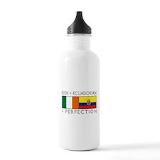 Irish Ecuadorian heritage fla Water Bottle