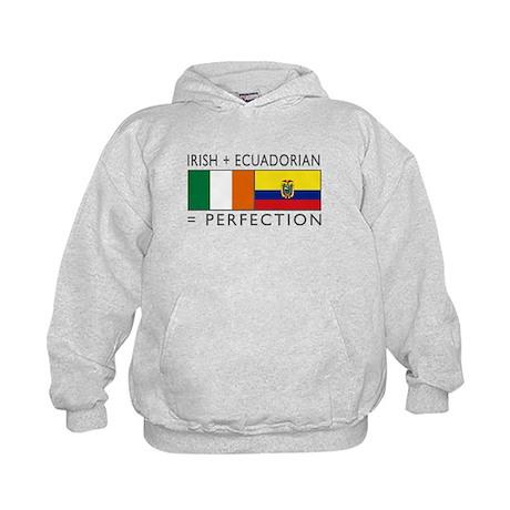 Irish Ecuadorian heritage fla Kids Hoodie