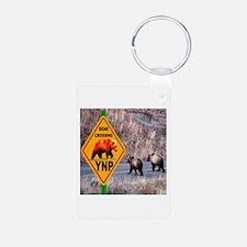 Bear Crossing YNP Aluminum Photo Keychain