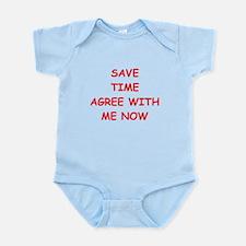 i'm right Infant Bodysuit