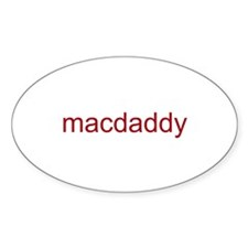 macdaddy red Decal