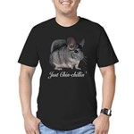 Just ChinChillin' Men's Fitted T-Shirt (dark)