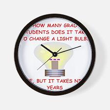 grad student Wall Clock