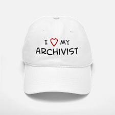 I Love Archivist Baseball Baseball Cap