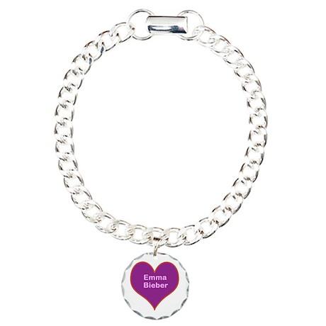 Emma Bieber Heart PRP Charm Bracelet, One Charm