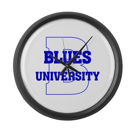 Blues University Large Wall Clock