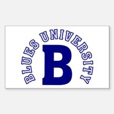 Blues University Decal