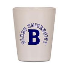 Blues University Shot Glass