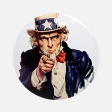 Uncle Sam: WE WANT YOU Ornament (Round)