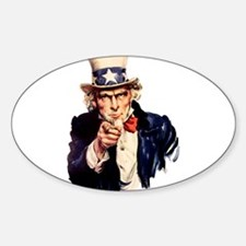 Uncle Sam: WE WANT YOU Oval Decal