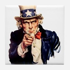 Uncle Sam: WE WANT YOU Tile Coaster