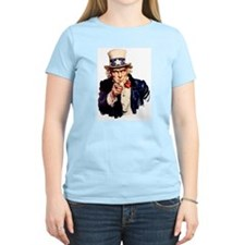 Uncle Sam: WE WANT YOU Women's Pink T-Shirt
