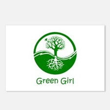 Green Girl Postcards (Package of 8)