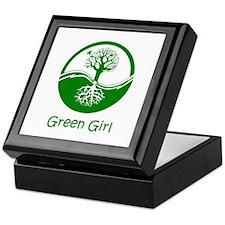 Green Girl Keepsake Box
