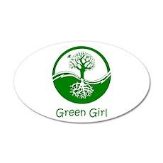 Green Girl 22x14 Oval Wall Peel