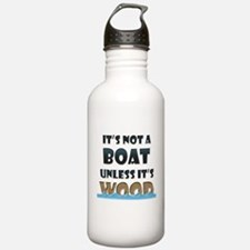 Wood Boat Water Bottle