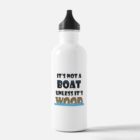 Wood Boat Water Bottle