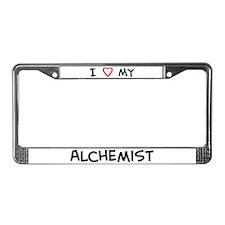 I Love Alchemist License Plate Frame