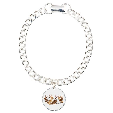 Bunnies Galore Charm Bracelet, One Charm