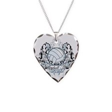 Volleyball Aunt Necklace Heart Charm