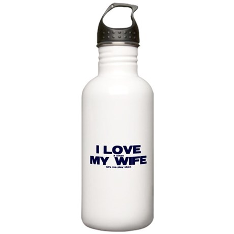 I love my wife Xbox funny Stainless Water Bottle 1