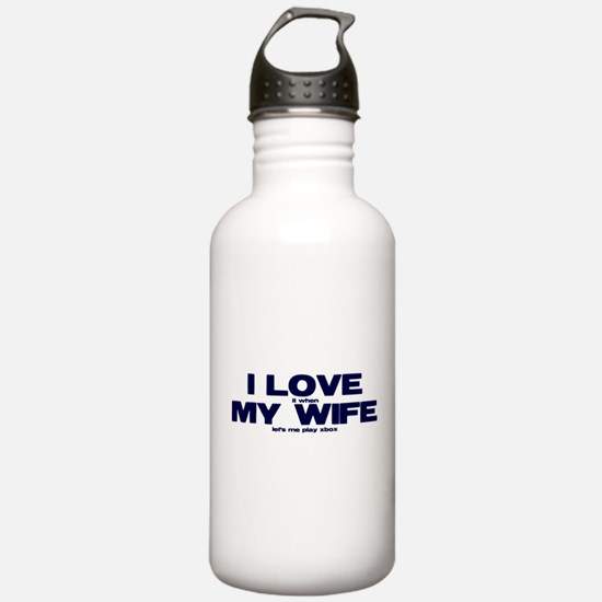 I love my wife Xbox funny Water Bottle