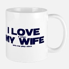 I love my wife Xbox funny Mug