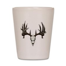 whitetail skull Shot Glass