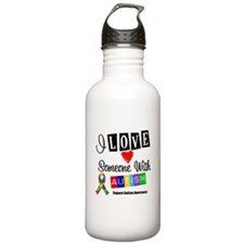 I Love Someone Autism Water Bottle